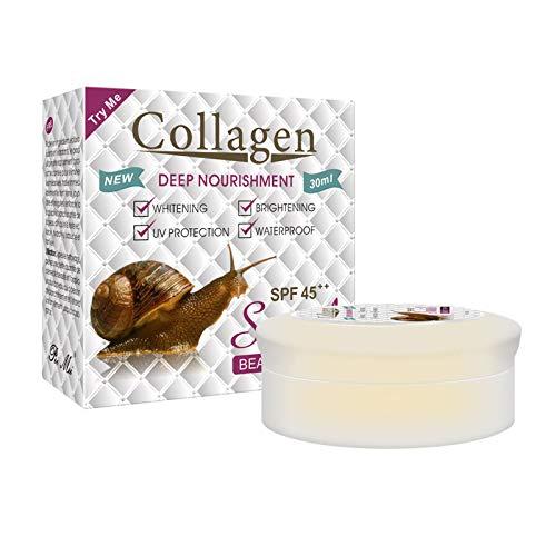 lfdhcn 30g Caracol Colágeno Crema Facial Hidratante Anti-envejecimiento Blanqueamiento Cuidado de la Piel