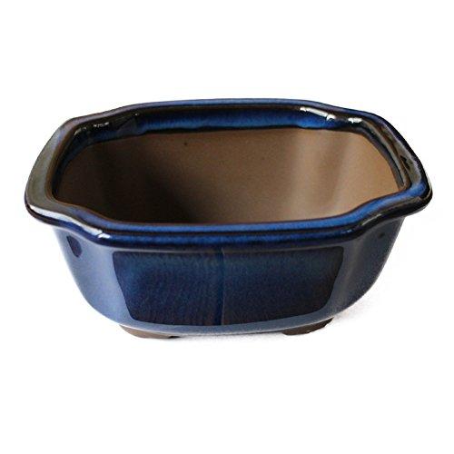Bonsai Pot Ceramic Mokko (Quince) Shape Glazed (5.75', Namako-Yu)
