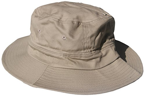 Bughat - Traditional Boonie Mosquito Net Hat - Khaki - Adult Small/Medium - Outdoor Hat - Sun and Bug Protection - Boonie Hat - bug hat