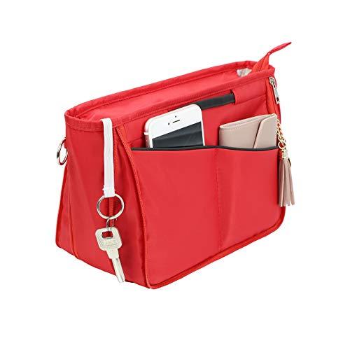 Joqixon Taschenorganizer Bag in Bag, Nylon Handtaschen Organizer mit Rreißverschluss, Innentaschen für Handtaschen, Damen Kosmetiktasche Tasche Organizer