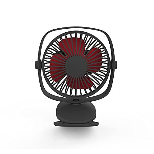 XQTEI Ventilador de cochecito con abrazadera Mini ventilador de escritorio personal Batería recargable USB Rotación de 360 ° Adecuado para habitación familiar Cuna Oficina al aire libre