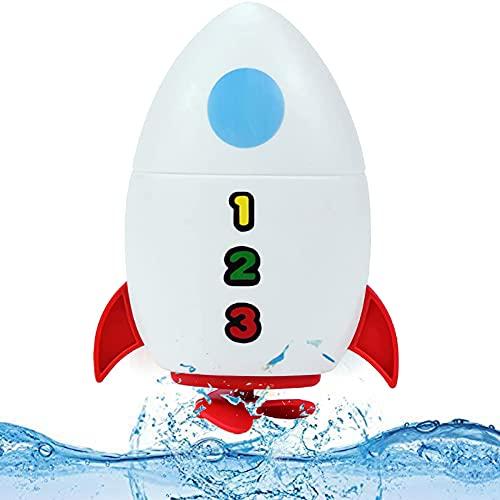 XIAOMING Juguetes para Baby Shower - 2 Piezas-Fuente de Cohete Espacial Juguetes para Jugar al Baby Shower