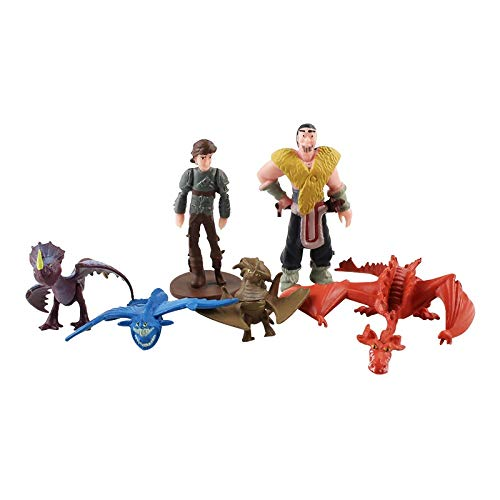 weichuang Juguetes de peluche 12 piezas/lote Cómo entrenar a tu dragón, figuras de PVC, mini figuras de dibujos animados, decoración de modelos, muñecas de peluche (color: 12 bolsas de opp)