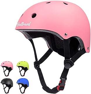 Besttravel Kids Helmet, Toddler Helmet Adjustable Toddler Bike Helmet Ages 3-8 Years Old Boys Girls Multi-Sports Safety Cycling Skating Scooter Helmet- Pink