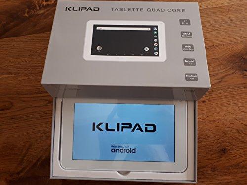 KLIPAD Tablette Tactile Black 7 Pouces HD Android 9.0/16 Go