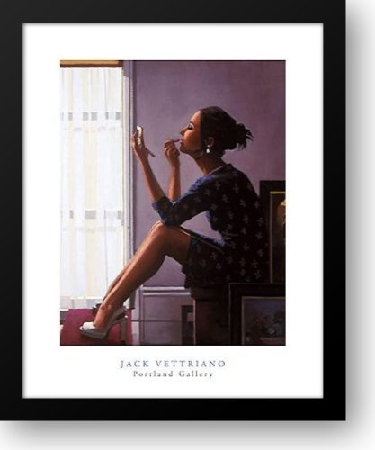 Only the Deepest Red II 20x24 Framed Art Print by Vettriano, Jack