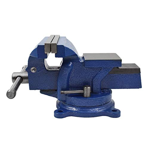 6' Bench Vise Table Top Clamp Press Locking Swivel Base Heavy-Duty for Crafting Painting Sculpting Modeling Electronics Soldering Woodworking and Fishing Tackle