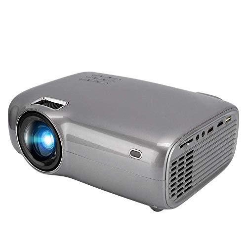 Bewinner1 Mini proiettore cinematografico per Home Theater, 1080P 720P 3000: 1 proiettore LED HD da 16,7 k 5000lm, proiettore Portatile, con Altoparlante Incorporato e Telecomando(EU)