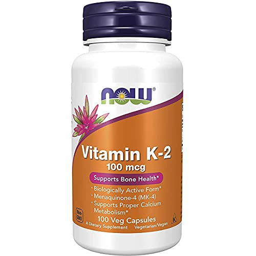 Vitamina K2 100mcg (100 Cápsulas Veganas) Now Foods