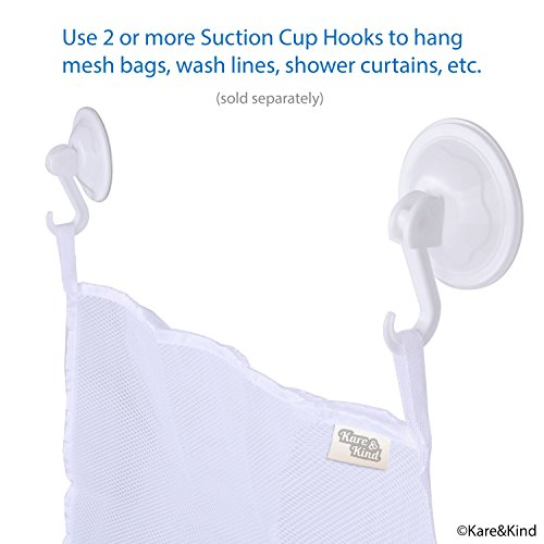 Suction Cup Hooks, Pack of 12 - Locking System - Extra Strong Vacuum Suction Power - Ideal Kitchen or Bathroom Hangers - for Towels, Bathrobes, Coats, Pans, Tools, etc. - No Drilling, Screws or Glue.