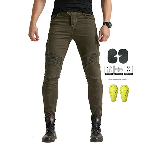 Xcomir Motorrad Straight Jeans Hockey Hosen Offroad Racing Knight Reithosen Protective Herren Jeans