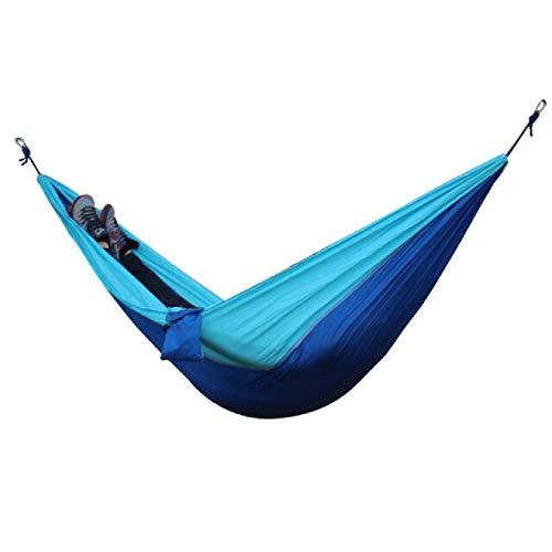 Yhjkvl Camping Hamaca 260x140cm Doble Personas Mosquito Hamaca Camping Jardín Cama Colgante para Dormir con Mosquetones Bolsa De Almacenamiento Hamaca para Exterior (Size:260 * 140cm; Color:F)