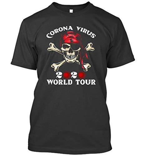 Corona-Virus World Tour 2020 Funny Gifts for Men Women T-Shirt (Black;XL)