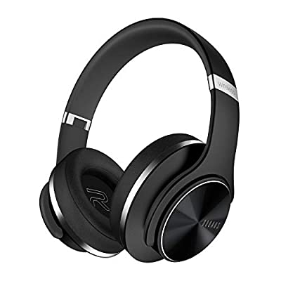 Bluetooth Headphones Over Ear, DOQAUS 52 Hrs Wireless Headphones, Foldable Hi-Fi Stereo Comfortable Earmuffs Bluetooth Headsets Hands Free Calling Wired Mode with Mic for Cellphone PC TV