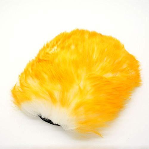 Hanpiyigqjst rengöringshandskar, Super långt hår andningsförmåga mesh tassar fårskinn bil tvätt rengöring polering handskar lyx lamm ull handske ull tvätt mitt (Size : A)