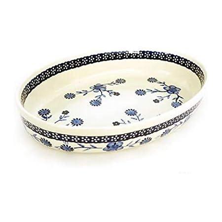 [Zaklady Ceramiczne Boleslawiec/ザクワディ ボレスワヴィエツ陶器] グラタン皿(オーバル)-273 ポーリッシュポタリー