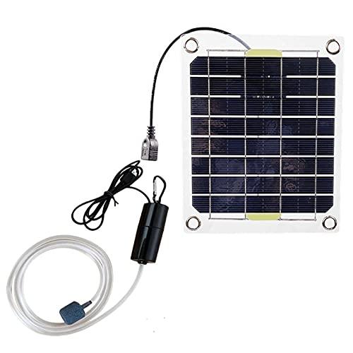Nedyet Aireador de estanque profesional, bomba de oxígeno para jardín, acuario, estanque, funciona con energía solar, bomba de aire de 20 W