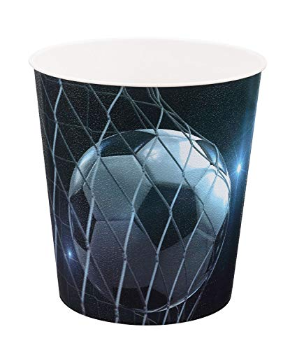 Idena 10488 Papierkorb aus PP, Fussball