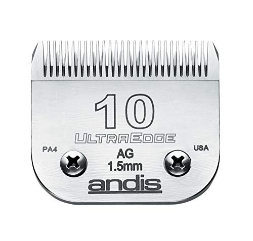 Andis Carbon-Infused Steel UltraEdge Dog Clipper Blade, Size-10, 1/16-Inch Cut Length (64071)