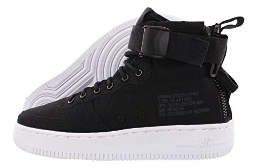 Nike Big Kids SF Air Force 1 Mid Sneakers 7y M US (Black/Anthracite-White)