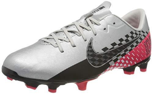 Nike Unisex Vapor 13 Academy N Fg/Mg Fußballschuhe, Mehrfarbig Chrome Black Red Orbit Platinum Tint 6, 36 EU