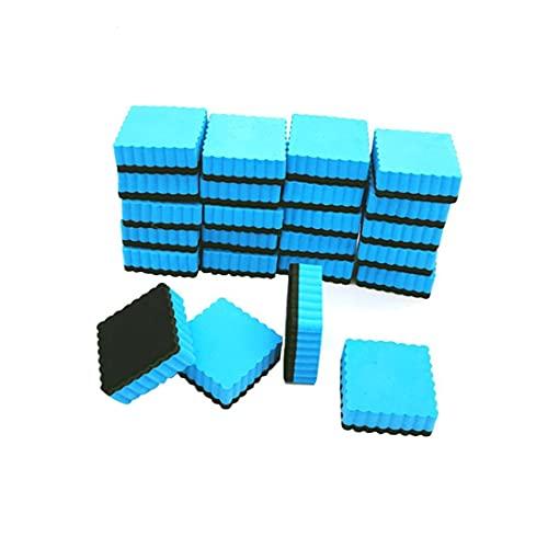 Sraeriot Limpiadores De La Pizarra De La Pizarra del Borrador De La Pizarra Magnética con Fondo De Fieltro para El Aula Y El Uso De La Oficina 20pcs Azul Claro