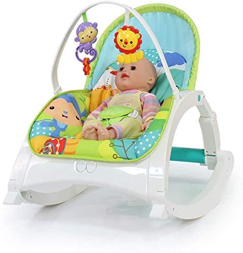 Juguetes para Bebés Mecedora para Bebés Cuna De Masaje Eléctrica Cama para Recién Nacidos Silla De Guardaespaldas Columpio Luz De Ajuste De Tres Velocidades