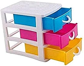 VS Multipurpose Modular 3 Drawer Chest Cabinet Organizer for Home, Official, Kids Room Table Top