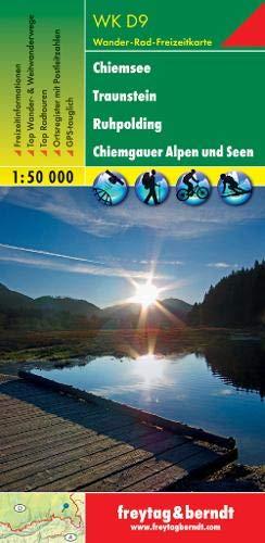 WK D9, Chiemsee - Traunstein - Ruhpolding - Chiemgauer Alpen und Seen, Wanderkarte 1:50.000: Wandel- en fietskaart 1:50 000 (freytag & berndt Wander-Rad-Freizeitkarten)