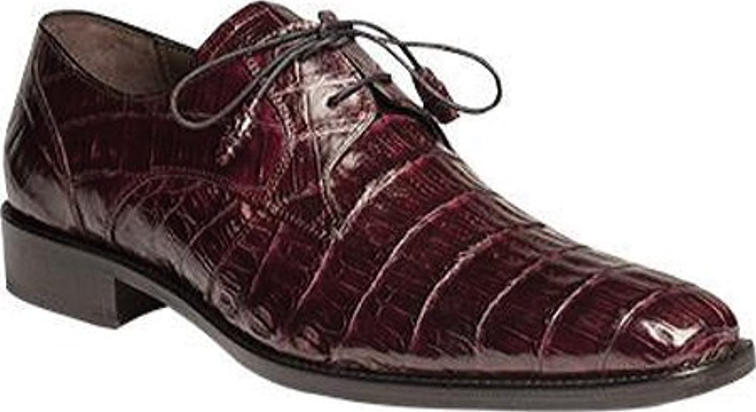 Mezlan Anderson Grey Genuine Crocodile Lace-Up