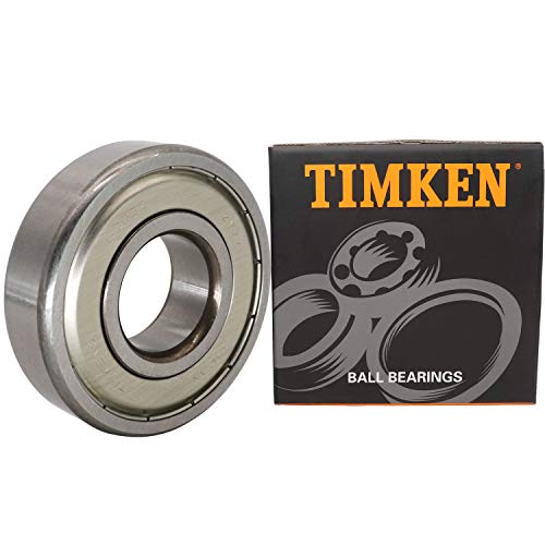 TIMKEN 6305-ZZ, 2 Pcs,Double Metal Seal Bearings 25x62x17mm, Pre-Lubricated and Stable Performance and Cost Effective, Deep Groove Ball Bearings.