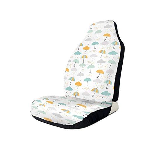 Paraguas Nubes y Gota de lluvia Ajuste universal Funda impermeable para asiento de coche Fundas para asiento de coche clásicas Lavable Fácil ajuste