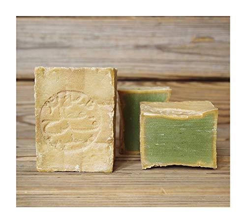 2x Originale Aleppo Seife mit Olivenöl/Lorbeeröl 60%/40% - Haarwaschseife/Duschseife - 100% Veganes Naturprodukt - reine Handarbeit ca.400g - Plastikfreie Verpackung Alepposeife