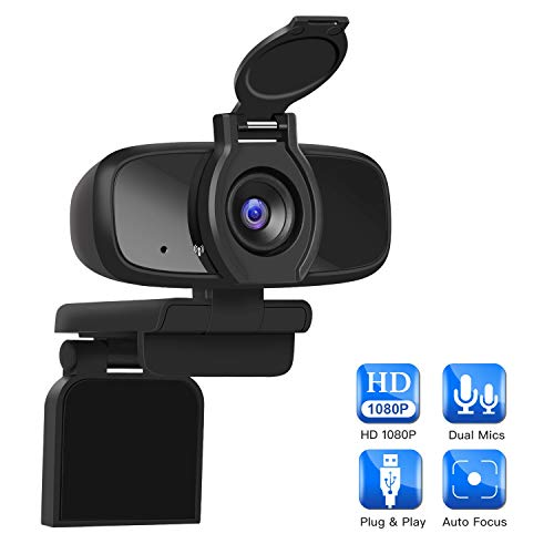 LarmTek 1080P Full HD Webcam,Computer Laptop Kamera für Konferenz-und Videoanruf,Pro Stream Webcam mit Plug and Play Videoanruf