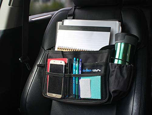 "Think Clean Car Front Seat Organizer (Black -13.8"" x 11.5"