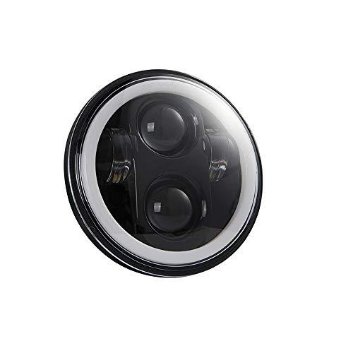 KKmoon Faro per Moto, Faro a LED da 5,75 Pollici Proiettore per Moto Luce di Guida Super Grandangolare