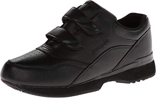 Propet Women's Tour Walker Strap Sneaker,Black,7.5 N US