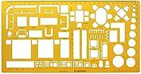 RTUTUR インテリアデコレーターデザイン家具レイアウト建築テンプレート定規製図