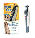 lovecabin Electric Pet Grooming Comb Remove Knot Out Electric Pet Dog Cat Hair Trimmer Safe Grooming Accessories for Dogs, Longhaired Cats, Rabbits Beauty Tools