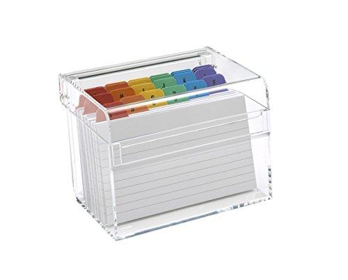 OSCO Caja de índice de acrílico, transparente (pequeña)