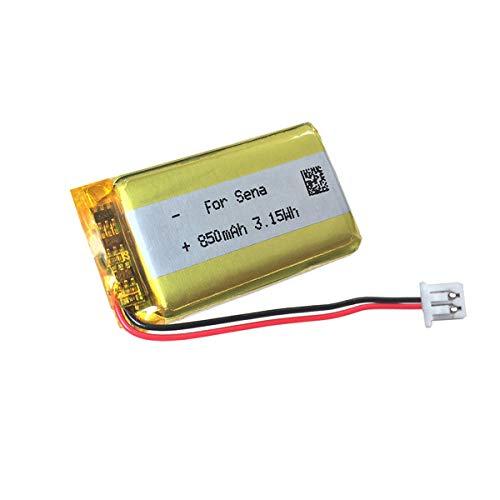 Batería de Repuesto de 3.7v 850mAh para Intercomunicador de Casco Bluetooth para Auriculares Sena 20S 30K