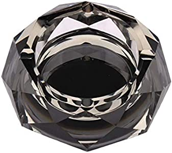 Kepfire Creativo Personalidad Cenicero Estrella Anise Vaso Cristal Negro Plata Cenicero Sala Hotel Moda Oficina Bar Decoración