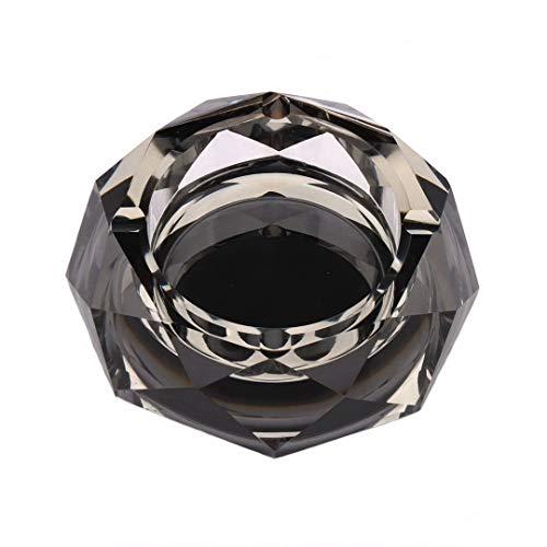 Kepfire Kreativ Persönlichkeit Aschenbecher Star Anise Glas Kristall Schwarz Silber Aschenbecher Wohnzimmer Hotel Mode Büro Barren Deko