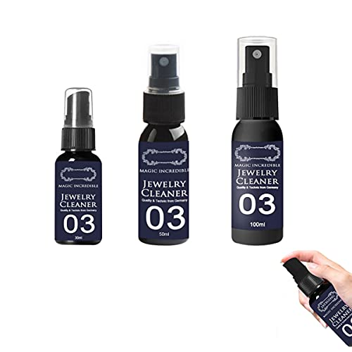 3PCS Tarnishgone Jewellery Cleaner,Instant Shine Jewelry Cleaner,Liquid Cleaning Solution Gold Silver Gems Platinum (30ML)