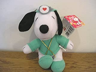 Snoopy Peanuts Love Doctor Plush Valentine Whitman