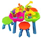 Inside Out Toys Sand and water play table 4 in 1 with loads of great accessories and 1 stool