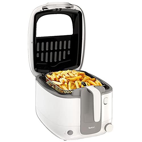 Tefal Fritteuse Super Uno FR3100, Kapazität 2,2 Liter 1,5Kg | Geruchsfilter, regelbare Temperatur, Behälter mit Antihaft-Beschichtung, Teile Spülmaschinenfest, knusprige Pommes, leichte Reinigung