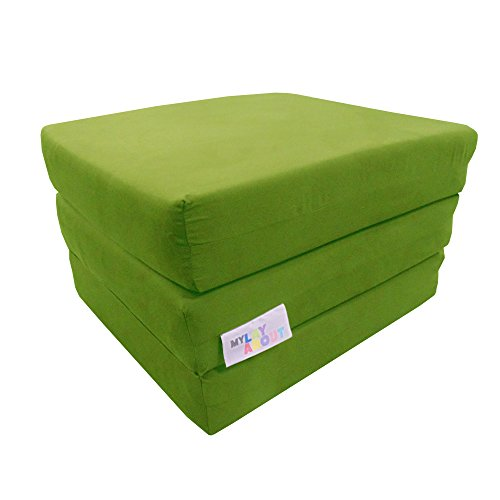My Layabout Adult Z Bed Memory Foam Fold out/Chairbed/Mattress | 10 Colour | Single (Lime)