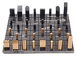 L.J.JZDY Tablero de ajedrez Conjunto de ajedrez Internacional Conjuntos de ajedrez de ajedrez para Adultos Piezas de ajedrez de Metal de Mesa de ajedrez de mármol
