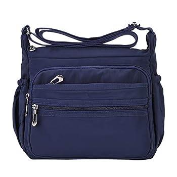 Crossbody Bag for Women Waterproof Shoulder Bag Messenger Bag Casual Canvas Purse Handbag  Large Navy Blue